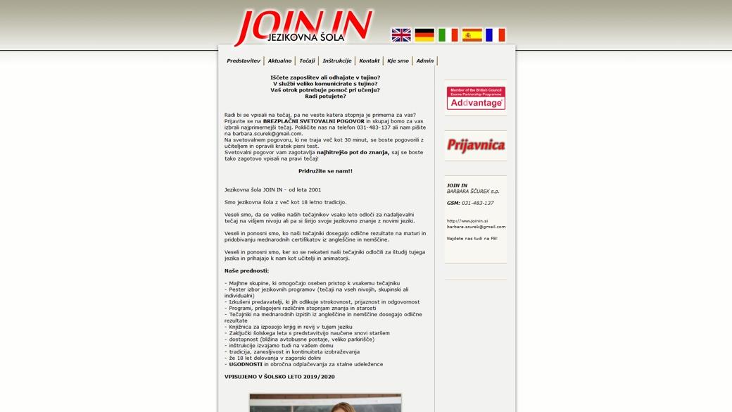 JOIN IN - Jezikovna šola
